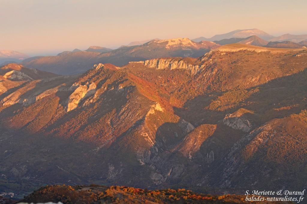 Paysages au nord de la Montagne de Lure, octobre 2015