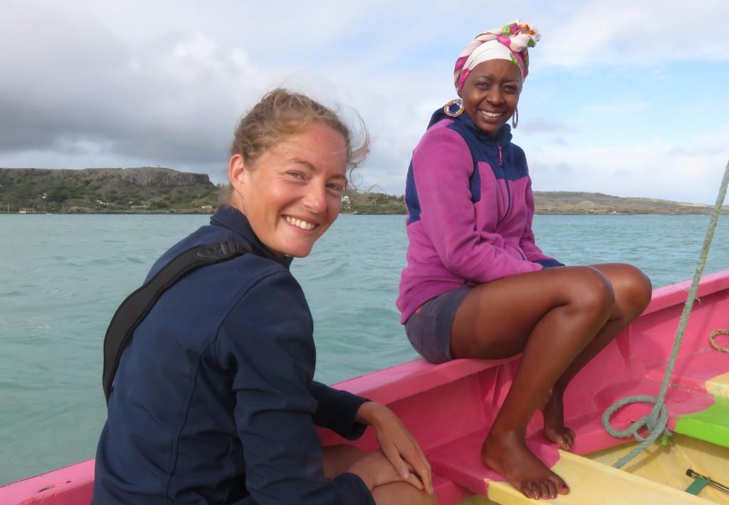 Traversée pour l'île aux Cocos avec Marie-Paule guide et gérante d'Eco-ballade
