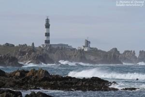 Le phare du Creac'h depuis Yusin