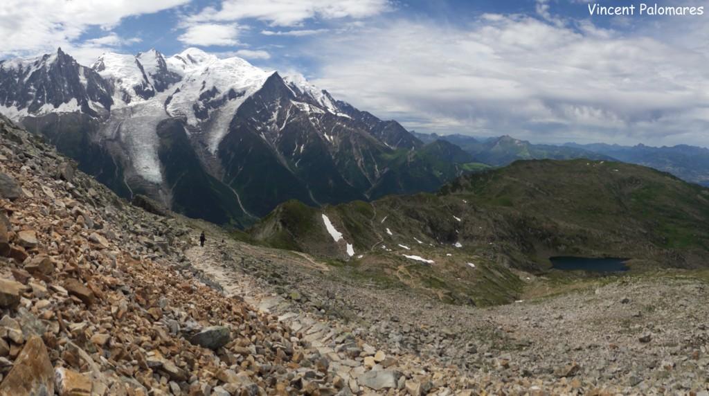 Vue sur le massif du Mont-Blanc depuis le Brevent