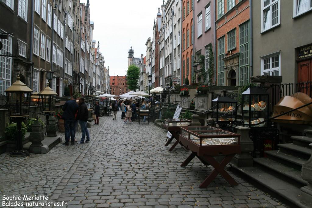 Gdansk, Mariacka Street, la rue de l'ambre