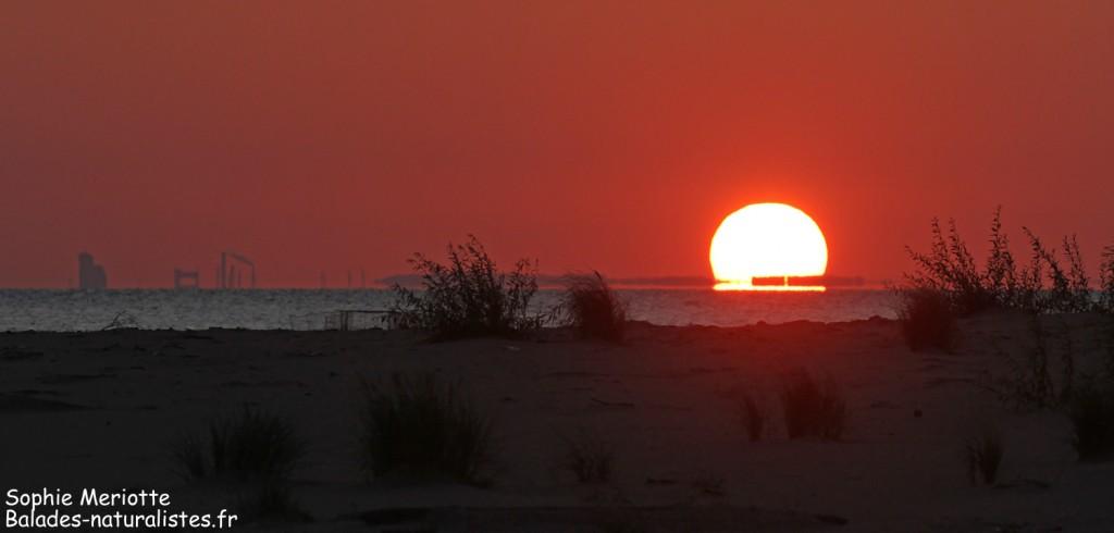Le soleil se couche sur la mer Baltique