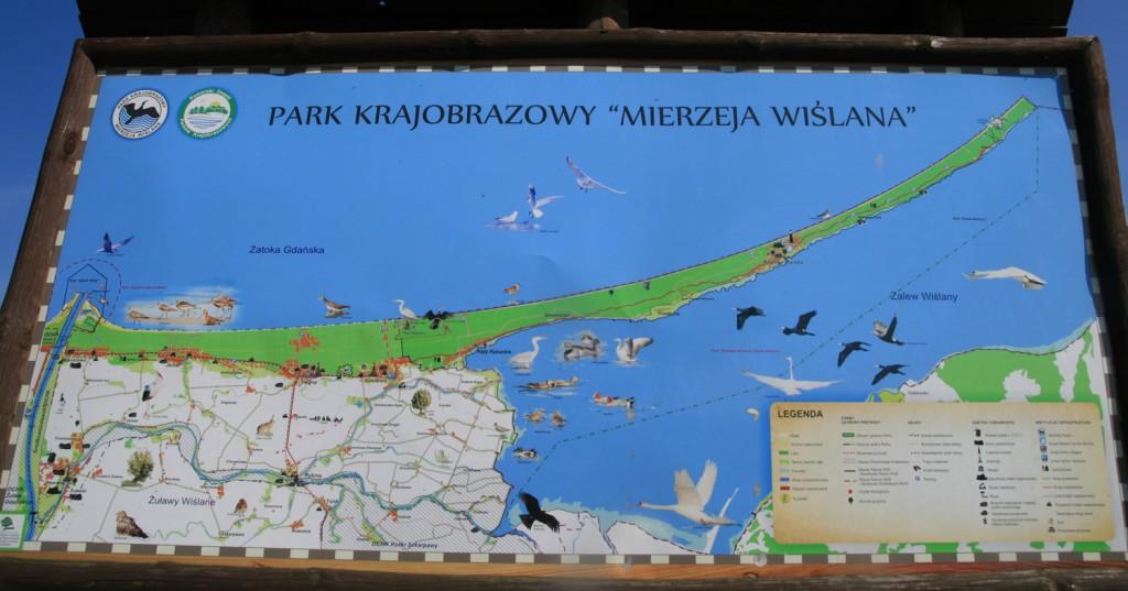 """Plan du Park Krajobrazowy """"Mierzeja Wislana"""""""