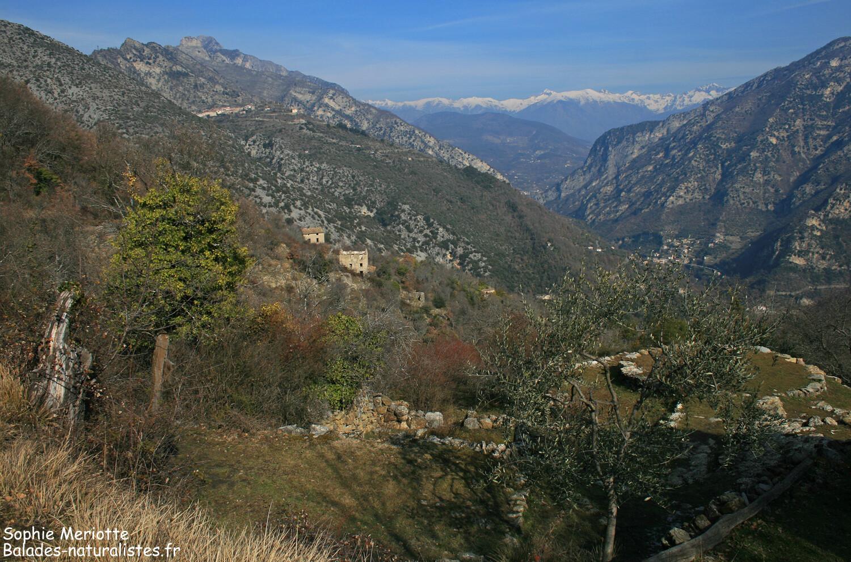 Utelle et le hameau de Villars