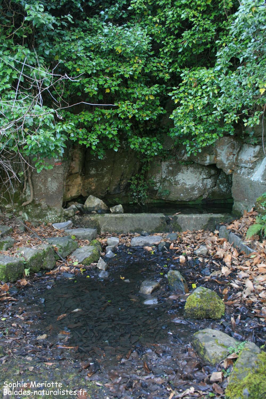 Fontaine sur le sentier entre Utelle et le Cros d'Utelle